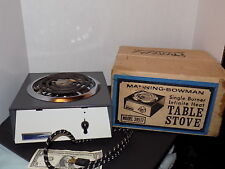 Vintage Portable Electric Stove Enamel Chrome Camping Manning Bowman 39517