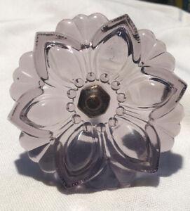 "Purple Pressed Glass Flower Curtain Tieback 4 1/4"" X 5 1/2"" 8 Available"