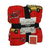 Friends Central Perk Throw Red Soft Fleece Bed Home Blanket 120cm X150cm Primark