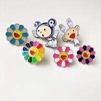9Pcs TAKASHI MURAKAMI Kaikai Kiki Pin Badge Mr DOB Complexcon Brooch Gifts