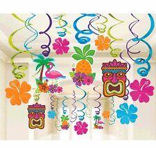 Tropical Tiki Swirl Decorations ~ Summer Luau Hawaiian Birthday Party Supplies