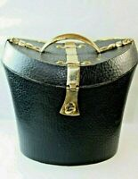 Tea Caddy Caddie hat Box Shaped with Shagreen and Brass detail Clip