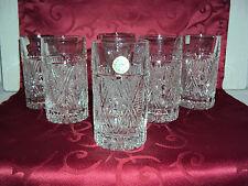 6x  Kristall Wassergläser Trinkgläser Saftgläser Longdrinkgläser