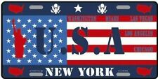 AMERICAN METAL PLATE AROUND THE WORLD COLLECTION USA AMERICA NEW YORK