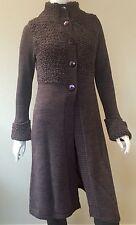 Grazia'lliani Half Wool Knitted Cardigan Full Length Lilac Color Size 42 (IT)