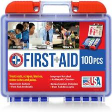 First Aid 100 Pieces All Purpose First Aid Kit, Portable, Easy For Use, Top Deal