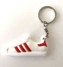 Adidas Red Stripe Superstar Trainer Training Shoe Keyring Key Chain