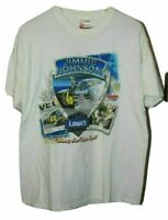 Jimmie Johnson Chase Authentics 2006 Las Vegas Win T-Shirt Sz L FLAWED SEE PHOTO