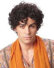 ADULT MENS PERSIAN PRINCE 70S MALE SHORT CURLY COSTUME WIG BROWN JHERI CURLS