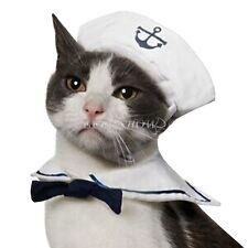 Pet Cat Kitty Puppy Sailor Suit Adjustable Pet Costume Dress Fancy Outfit Cute