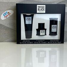 KENNETH COLE VINTAGE BLACK 1.7 COLOGNE, 3.4 after shave balm, 2.6 DEO (GIFT SET)
