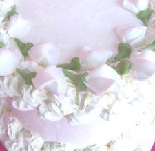 "80 - 1 1/4""  White  Sugar Rosebuds Cake Cupcake Toppers Cake Decorating Flowers"