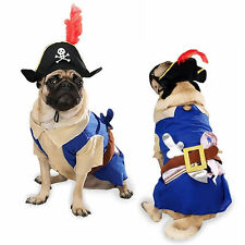 Zack & Zoey Pirate Pup Dog Costume Hat Feather Swashbuckling Machine Washable