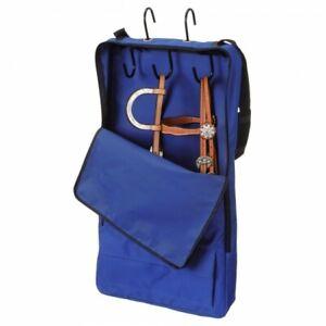 Tough 1 Royal Blue Heavy Denier Nylon Halter/Bridle Bag w/3 Prong Rack 61-8060