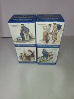 Norman Rockwell Seafarers Tankard Collection Long John Silvers~Set 4~Porcelain