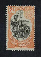 CKStamps: Somali Coast Stamps Collection Scott#62 Mint H OG Wrong Color