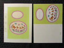 "EASTER Momma Duck & Ducklings Butterflies 6.5x9"" Greeting Card Art #2820 w/ Card"