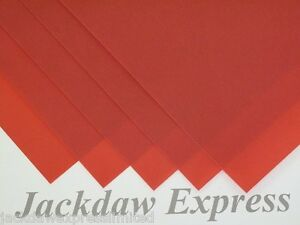 10 x A3 200gsm Red Thick Vellum for Cardmaking Scrapbooking Crafting