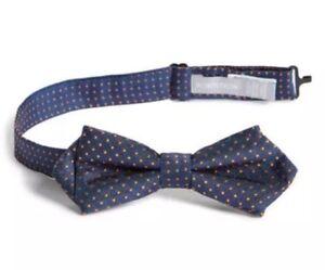 Nordstrom Boy's Blue Joey Dot Silk Bow Tie 37443 One Size