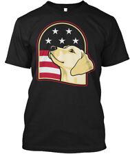 Yellow Lab Usa Patriot Hanes Tagless Tee T-Shirt