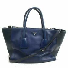 Prada Blue Bicolor Galleria Tote with Strap 2way 872320