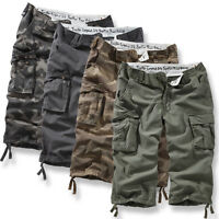 SURPLUS RAW TROOPER LEGEND 3/4 SHORTS MENS MILITARY VINTAGE CARGO COMBAT WASHED