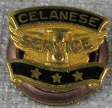 Vintage Pin 14K Solid Gold Celanese Service