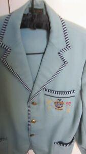 HALE school pale blue wool blazer .Size 17.1958 centenery badge to pocket.As is