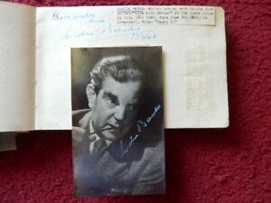 LESLIE BANKS   - FILM ACTOR  - AUTOGRAPH + PHOTO - 1948