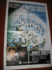 AVALANCHE original MOVIE POSTER >1978 ski skiing mountain patrol