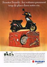 PUBLICITE ADVERTISING  1991   SUZUKI   moto scooter CP 50 80 cm3