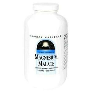 Source Naturals Magnesium Malate (1250 mg) - 360 Tablets