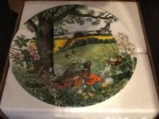 wedgwood plate, Meadows and Wheatfields, plate no.2242 P, 1987 by colin newman