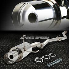 """4""""MUFFLER TIP STAINLESS RACING CATBACK EXHAUST SYSTEM 02-05 CIVIC SI EP3 HB K20"""