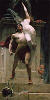 Ajax and Cassandra by British Painter S. J. Solomon. Fantasy Repro on Canvas