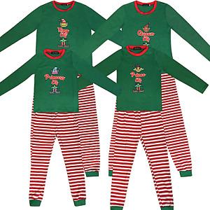 Family Matching Christmas Pyjamas Elf Pajamas Kids Boys Xmas Pjs Girls Nightwear