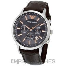 * Nuovo * Da Uomo Emporio Armani Marrone Rose Gold Chrono Watch-AR2513-RRP £ 259.00