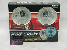 4in Blue Glow Angel Eye Fog Lamps Round Halo Lights Set of 2