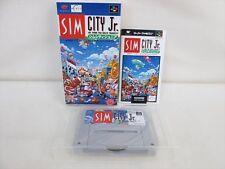 SIM CITY Jr. Junior Super Famicom Nintendo Japan Boxed Game sf