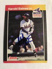 1989 Donruss Harold Baines #148 Auto Signed Autograph White Sox