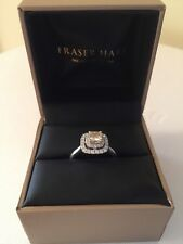 Beautiful Yellow Diamond Double Halo Engagement Ring. Brand new, boxed with Cert