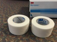 3M Micropore Surgical Tape,White,1'' X 10 Yards- 2 Rolls  1530-1