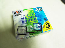 MD 3er Pack AXIA MD-PS Natural Sound 80 OVP Minidisc (0) Japan TOP!!