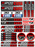 Adventure Set adesivi rossi per BMW Motociclo 28 stickers R1200 GS & R1200GS 166