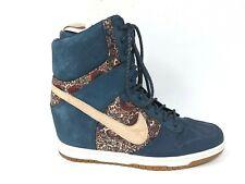 Nike Dunk Sky Hi Liberty of London  632180-402 Wedge Sneaker Boots Womens Size 8