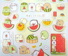 Japanese Sumikko Gurashi stickers! Kawaii summer San-X stickers Watermelon fruit