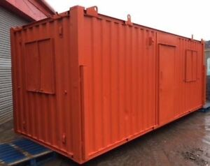 21ft x 8ft Anti Vandal Office/Canteen Container Orange - *** MANCHESTER ***