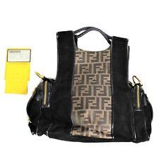 Vintage Fendi Sellerin Small Spy Bag Zucca Lamb Calf 10D105 Shoulder Hand Bag