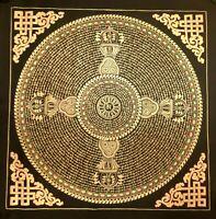 Large Genuine HandPainted Tibetan Mantra Mandala thangka Painting Meditation 13