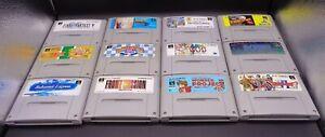 12 verschiedene Super Famicom Spiele JAPAN NTSC ( SFC ) Sammlung